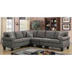 Sears Living Room Sectionals Packages Perth Sectional Sofas Couches Sleeper Furniture Of America Cm6329gy 4 Pc Rhian Dark Gray Linen Like Fabric Sofa With Rounded
