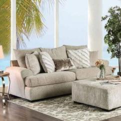 Classic Living Room Chairs Audio System Furniture Of America Beige Upholstered Sofa Loveseat Chair 3pc