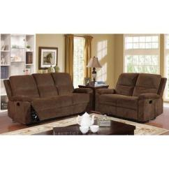 Catnapper Sofas And Loveseats Costco Leather Sofa Warranty Harbor Chenille Reclining Loveseat Set Furniture Of America Modern Brown Fabric 2pc Plush Cushion
