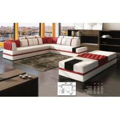 Modern Living Room Couches Grey Yellow And Turquoise Sets Collections Sears Esofastore Contemporary Sectional Sofa Chaise Corner White Red Cushion Couch Pillows Beautiful