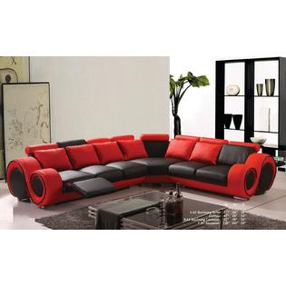 black and red leather sofa toy ashley furniture esofastore classic contemporary bonded sectional set reclining loveseat corner living