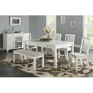 kitchen table and chair sets fishing second hand dining room kmart esofastore traditional beautiful 6pc furniture set chairs bench tufted