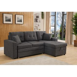 sectional sofa deals free shipping replacement covers for habitat chester couches with leather sears esofastore set small living room furniture gray linen fabric cushion tufted couch w