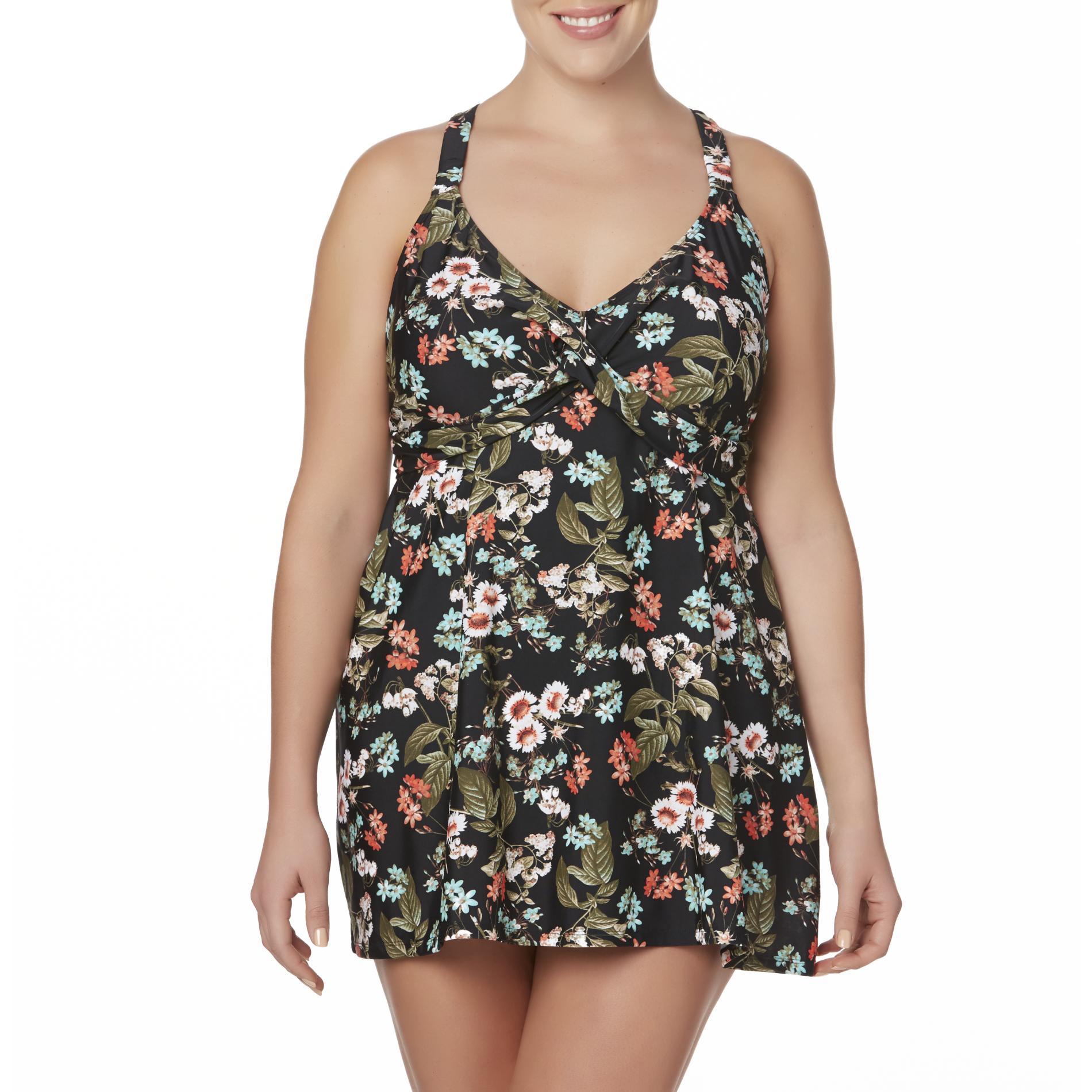 Jaclyn Smith Women' Swim Dress - Floral
