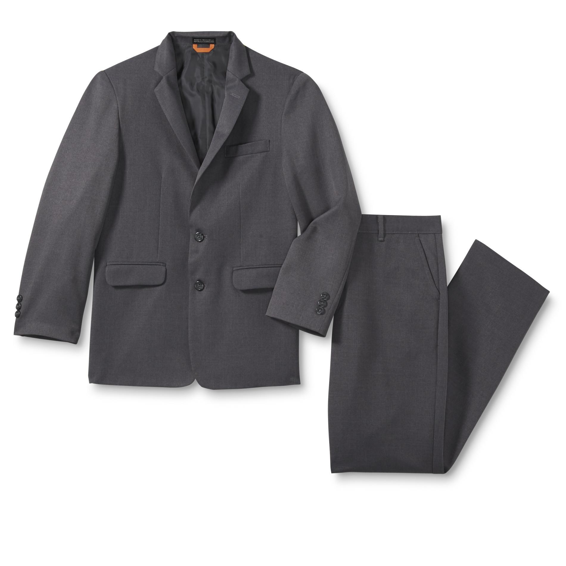 Dockers Boys' Husky Suit Coat & Dress Pants