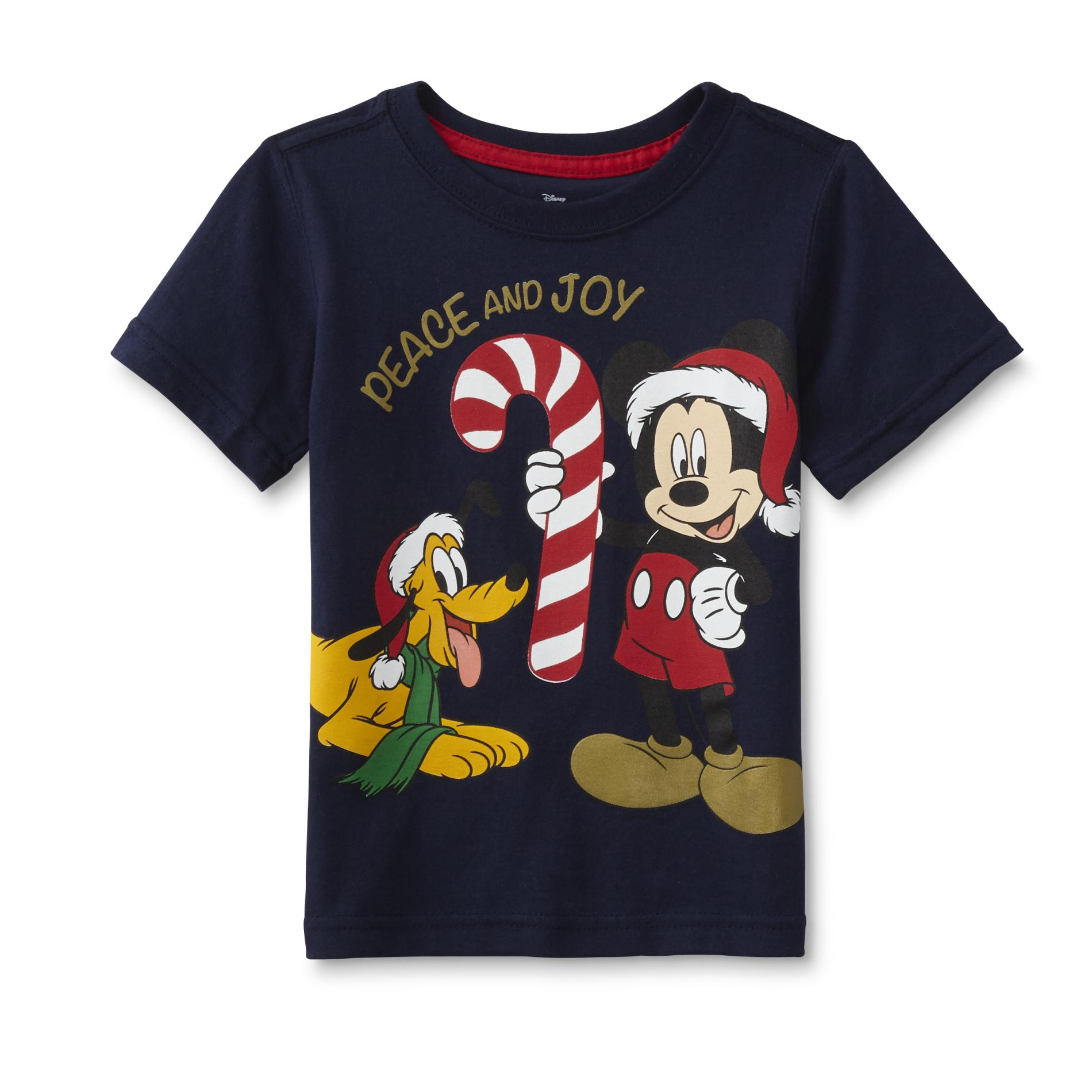 Disney Mickey Mouse Toddler Boys Christmas Graphic T Shirt