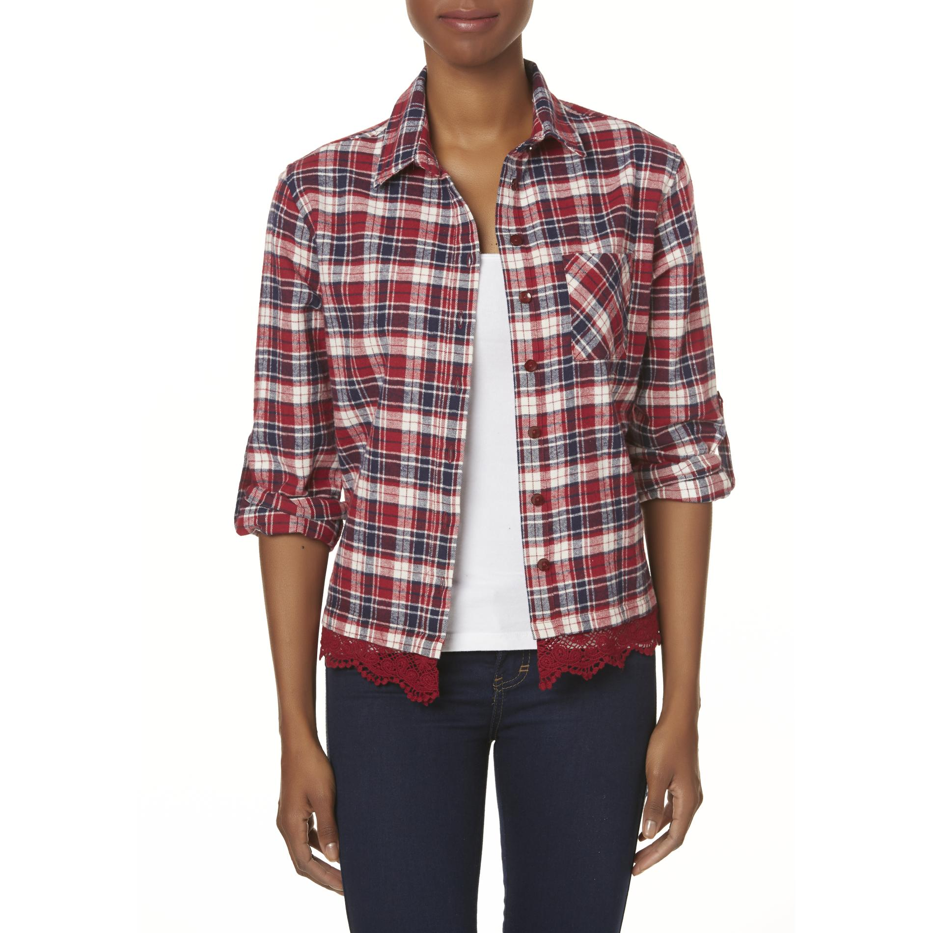 Women' Flannel Shirt - Plaid