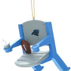 Carolina Panthers Chair Round Hanging Nfl Stadium Christmas Ornament