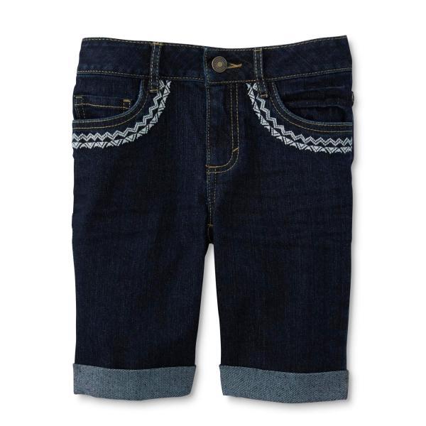 Embroidered Bermuda Shorts Girls