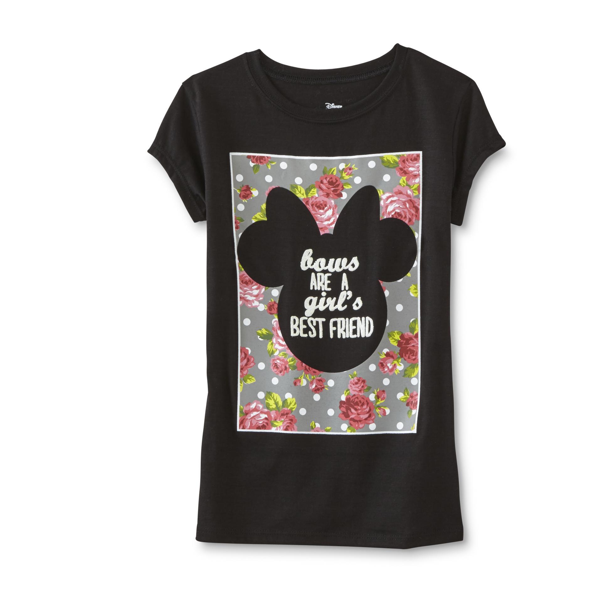 Disney Minnie Mouse Girls Graphic T Shirt Best Friend