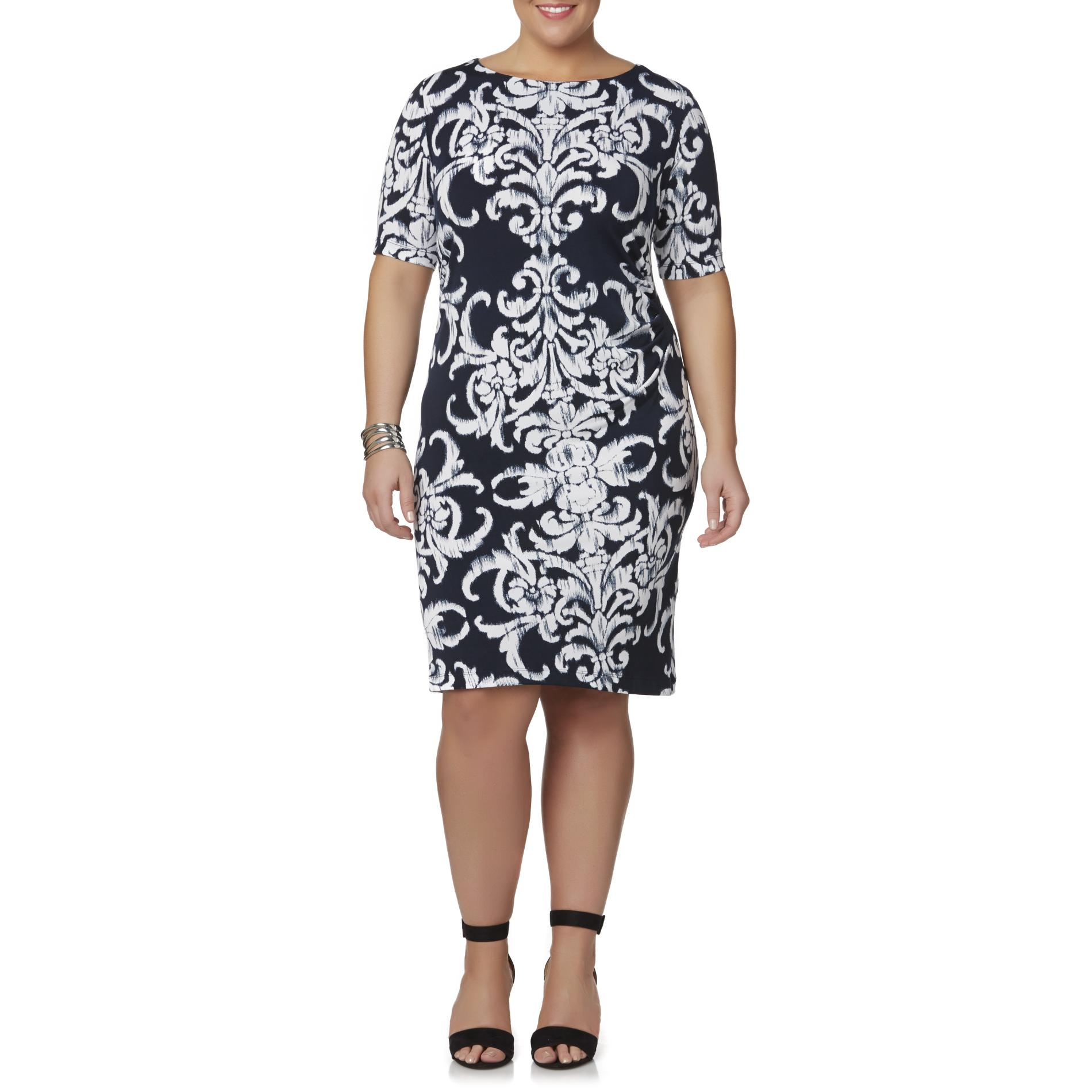 Connected Apparel Women39s Plus Cold Shoulder Dress Fleur
