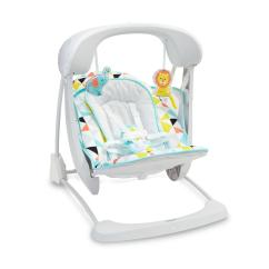 Baby Swing Vibrating Chair Combo Padded Church Chairs Swings Bouncers Kmart Fisher Price Deluxe Take Along Seat Geometric