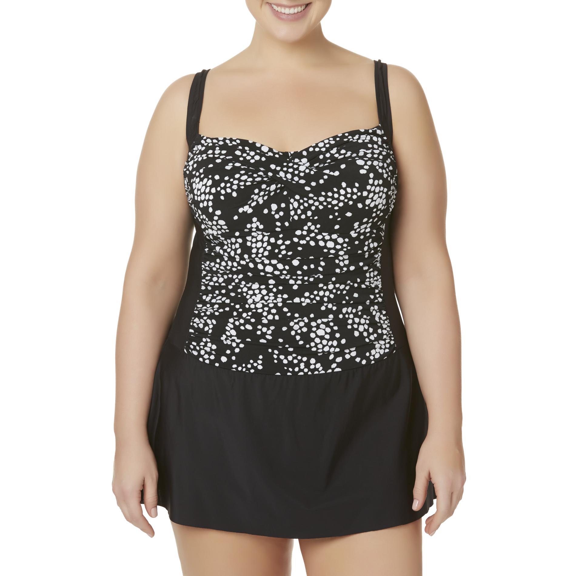 Tropical Escape Women' Swim Dress - Dots