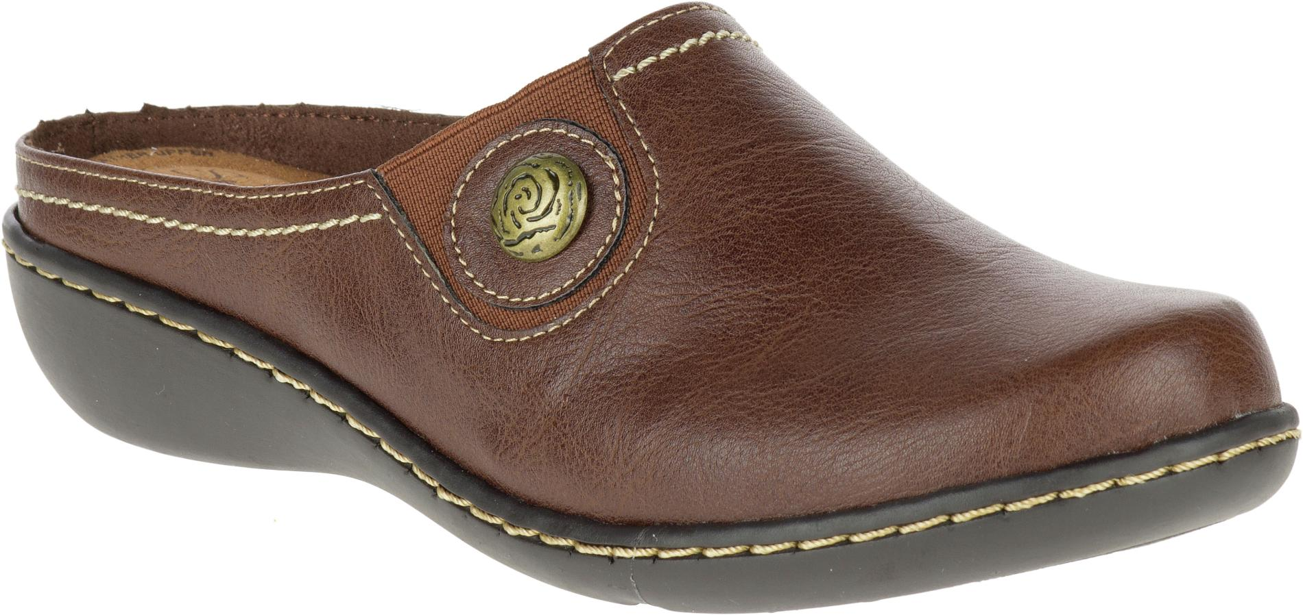 Soft Style Hush Puppies Women' Jamila Leather Clog - Brown