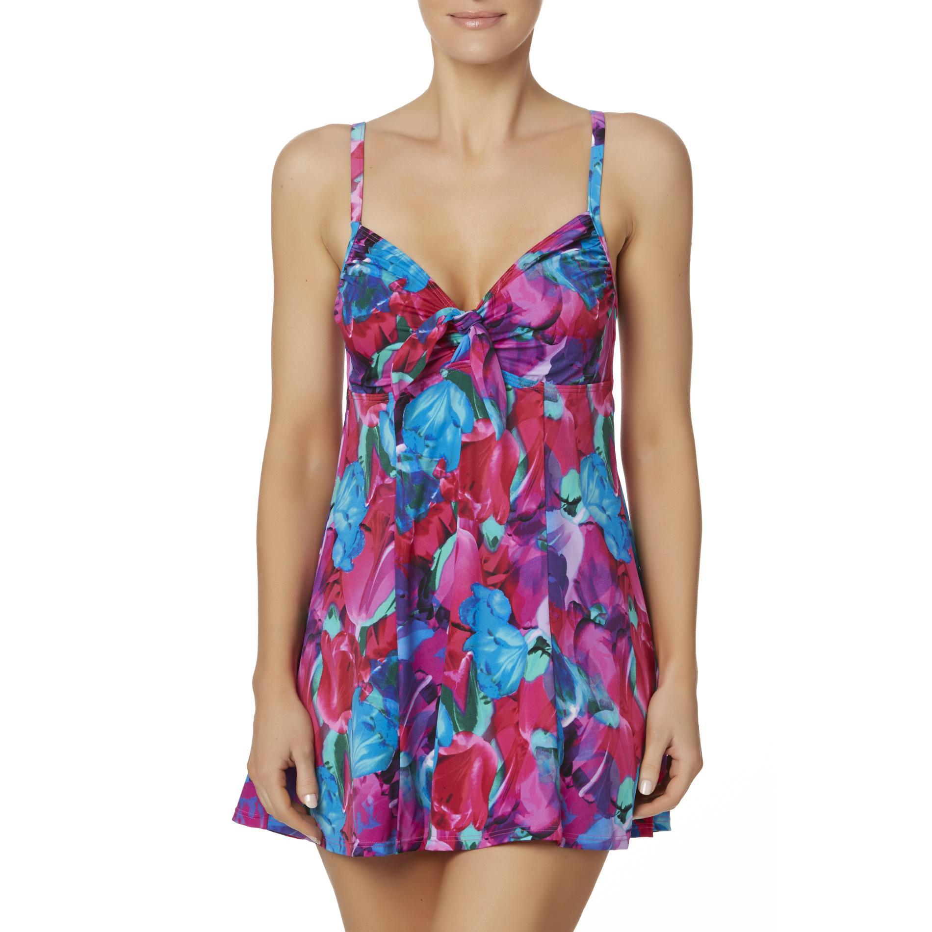 Shore Fit Women' Swim Dress - Floral