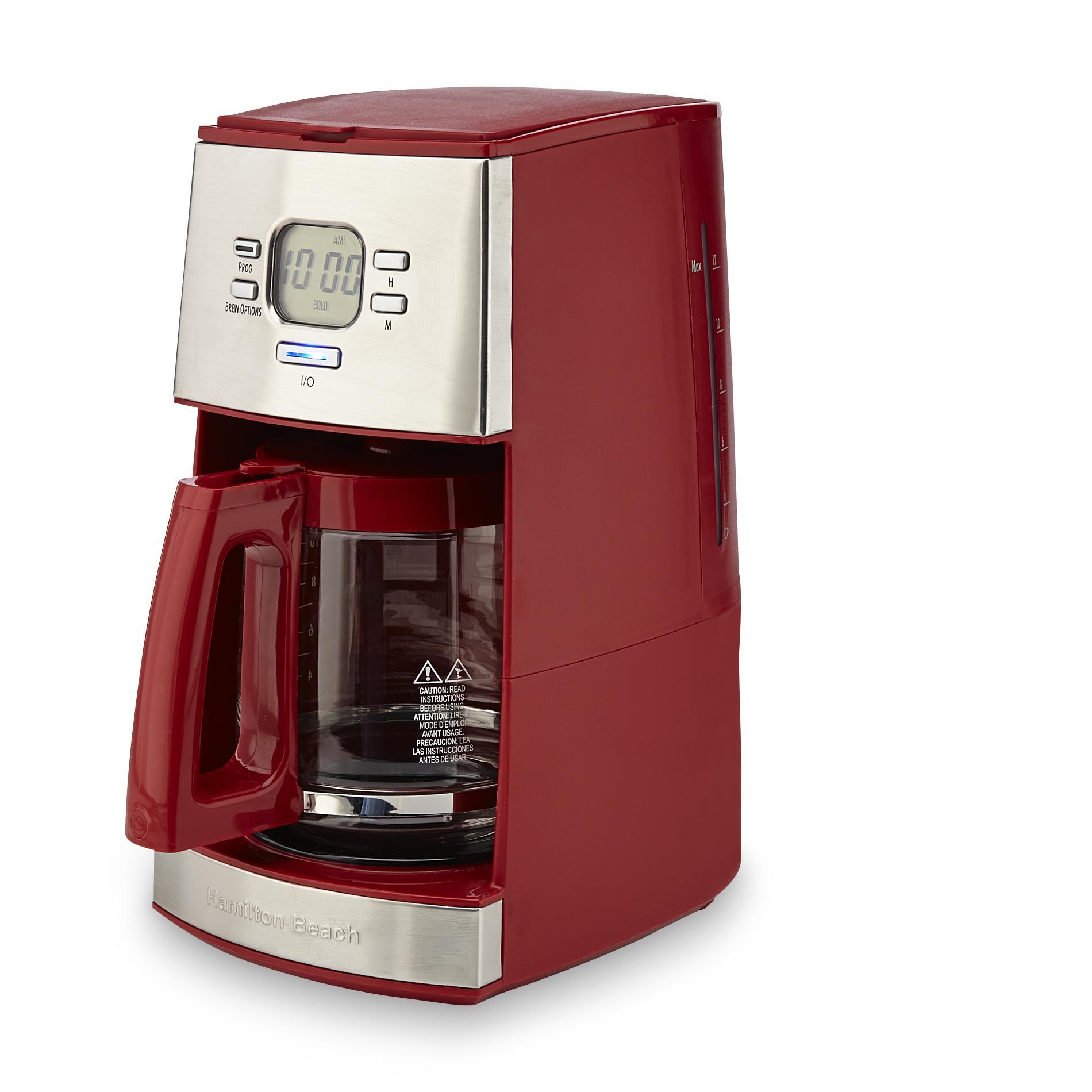Hamilton Beach Brands Inc 43253 12 Cup Ensemble Coffee Maker Red
