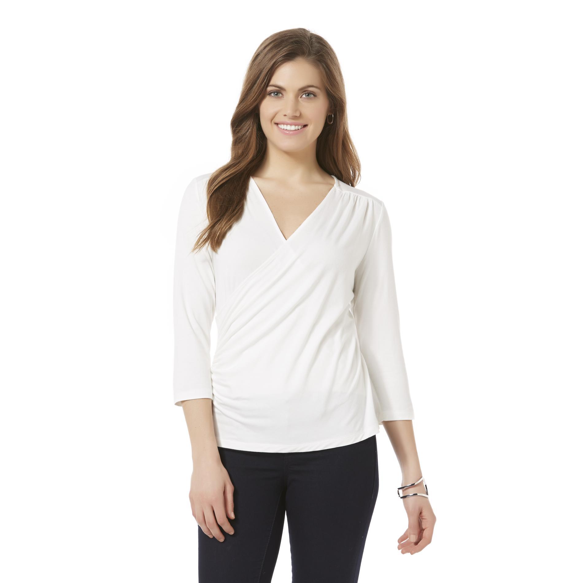Women's Petite Wrap Shirt