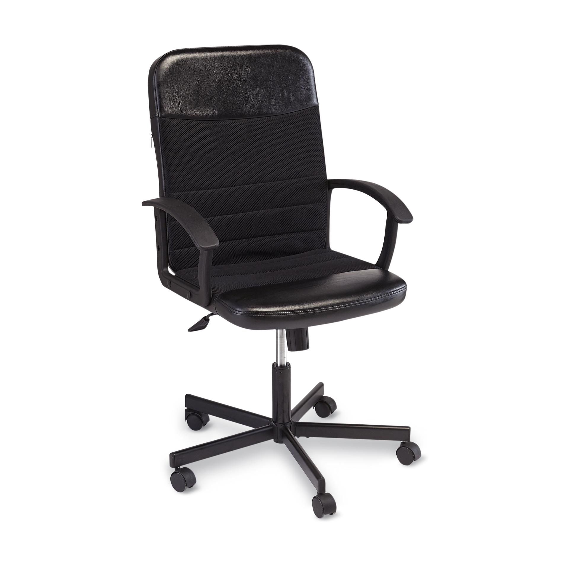 harith high back leather executive chair white covers and sashes office chairs desk kmart essential home deluxe