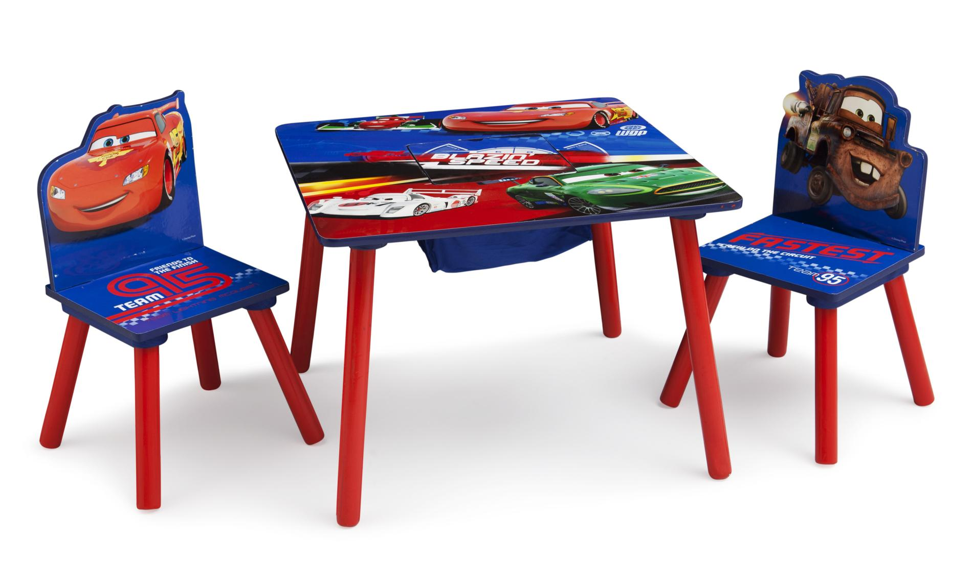 Disney Cars Table  2 Chairs  Lightning McQueen
