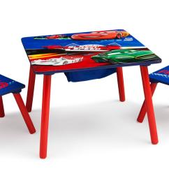Disney Table And Chair Set White Barcelona Cars 2 Chairs Lightning Mcqueen