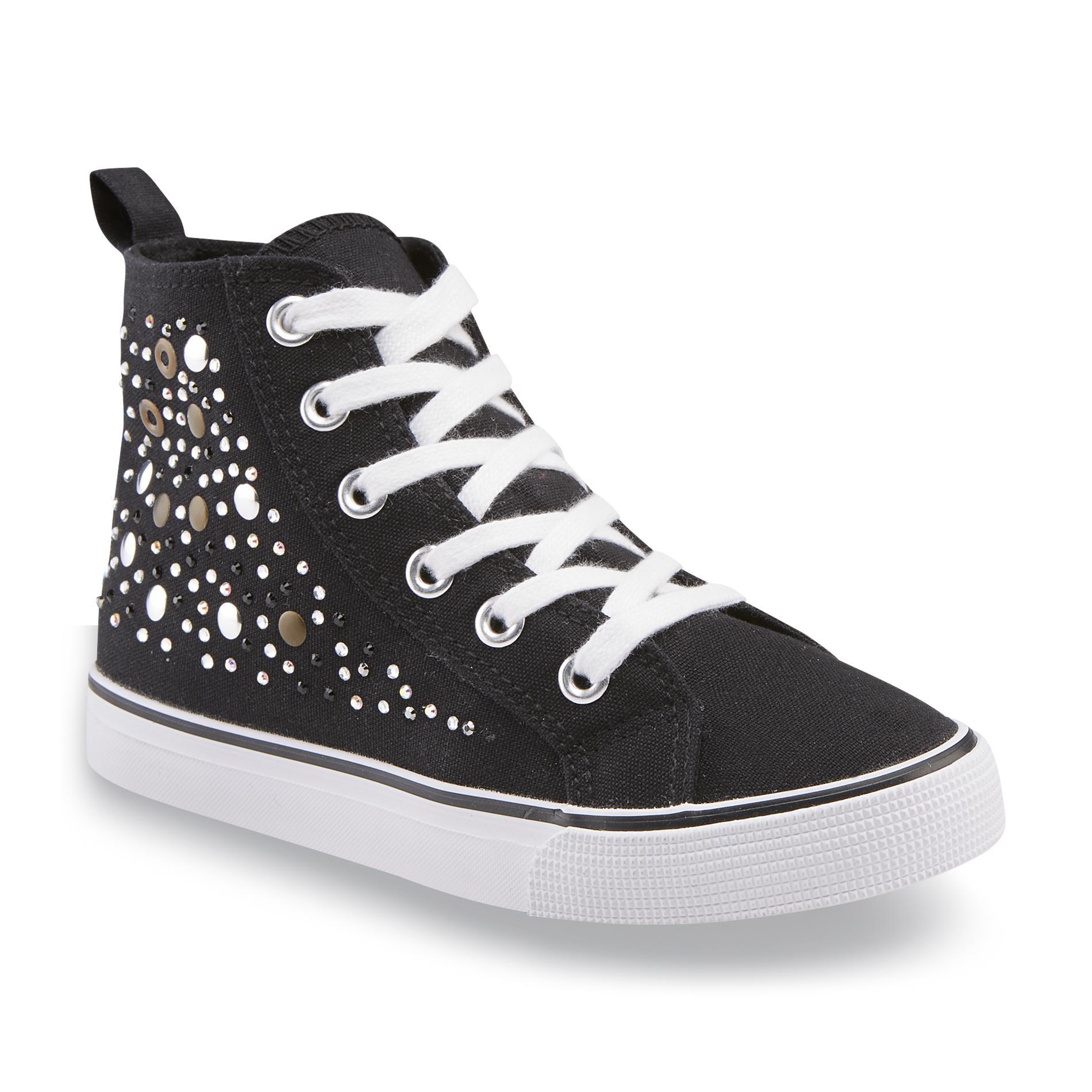Black High Top Shoes Girls