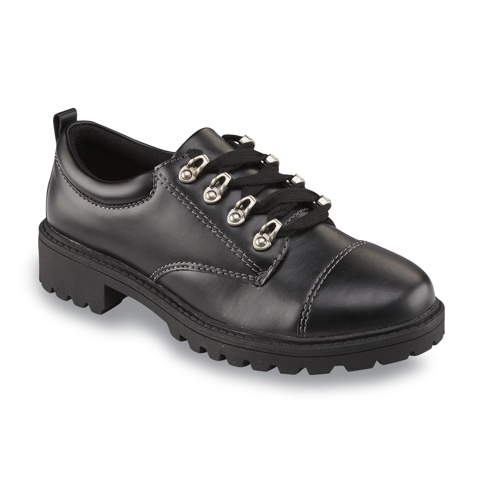 Bongo Women' Lana Black Oxford Shoe - Shoes Flats