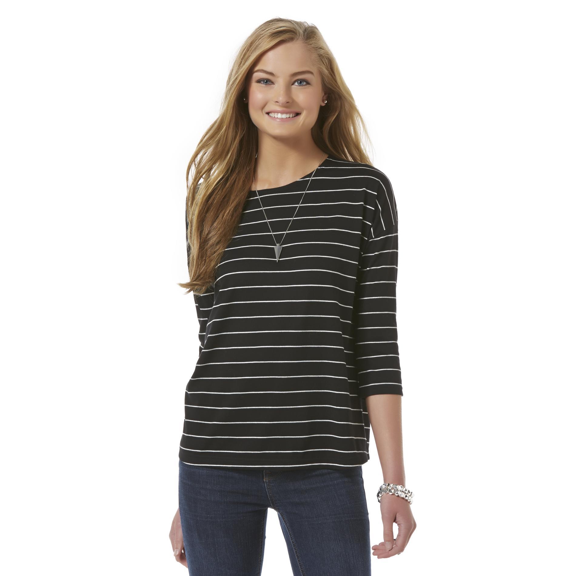 Bongo Junior' Long-sleeve T-shirt - Striped Clothing Juniors Tops