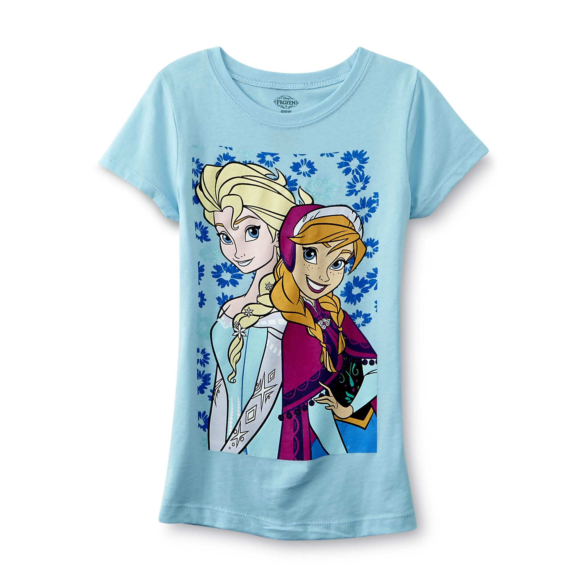 Disney Frozen Girls Graphic T Shirt Elsa Amp Anna