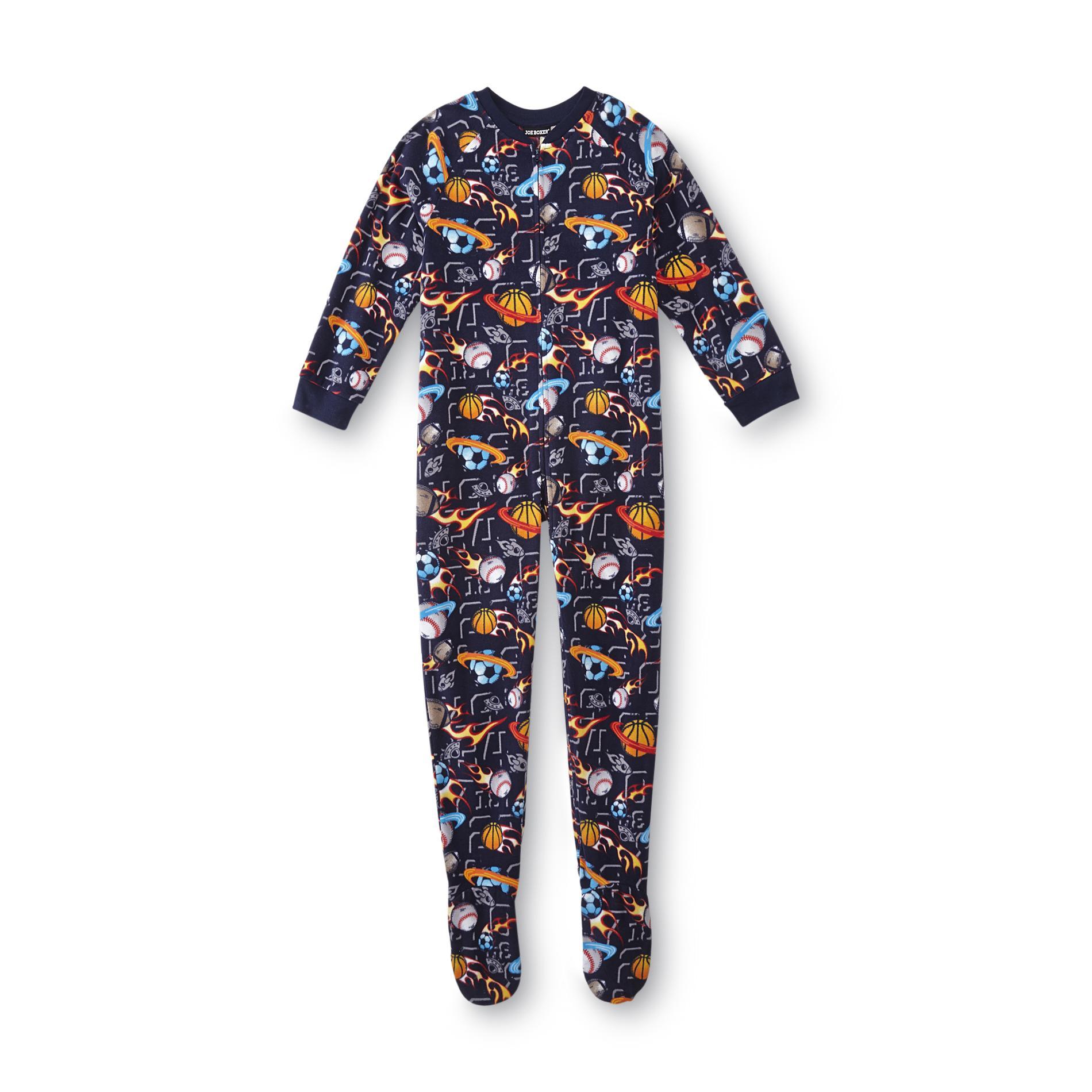 Joe Boxer Boy' Footed Pajamas - Space Sports Clothing Boys'