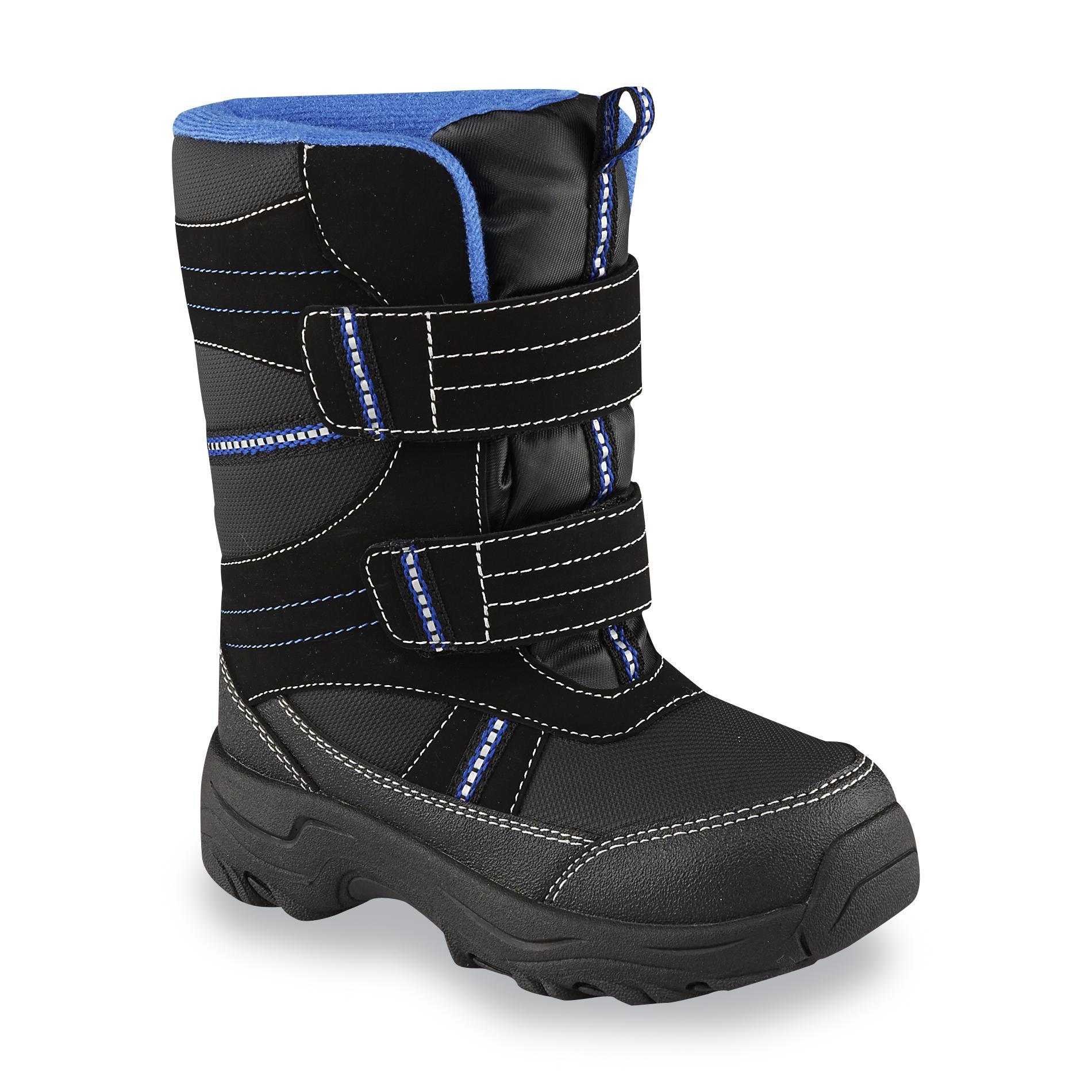 Athletech Boys Nagle Black Waterproof Winter Snow Boot