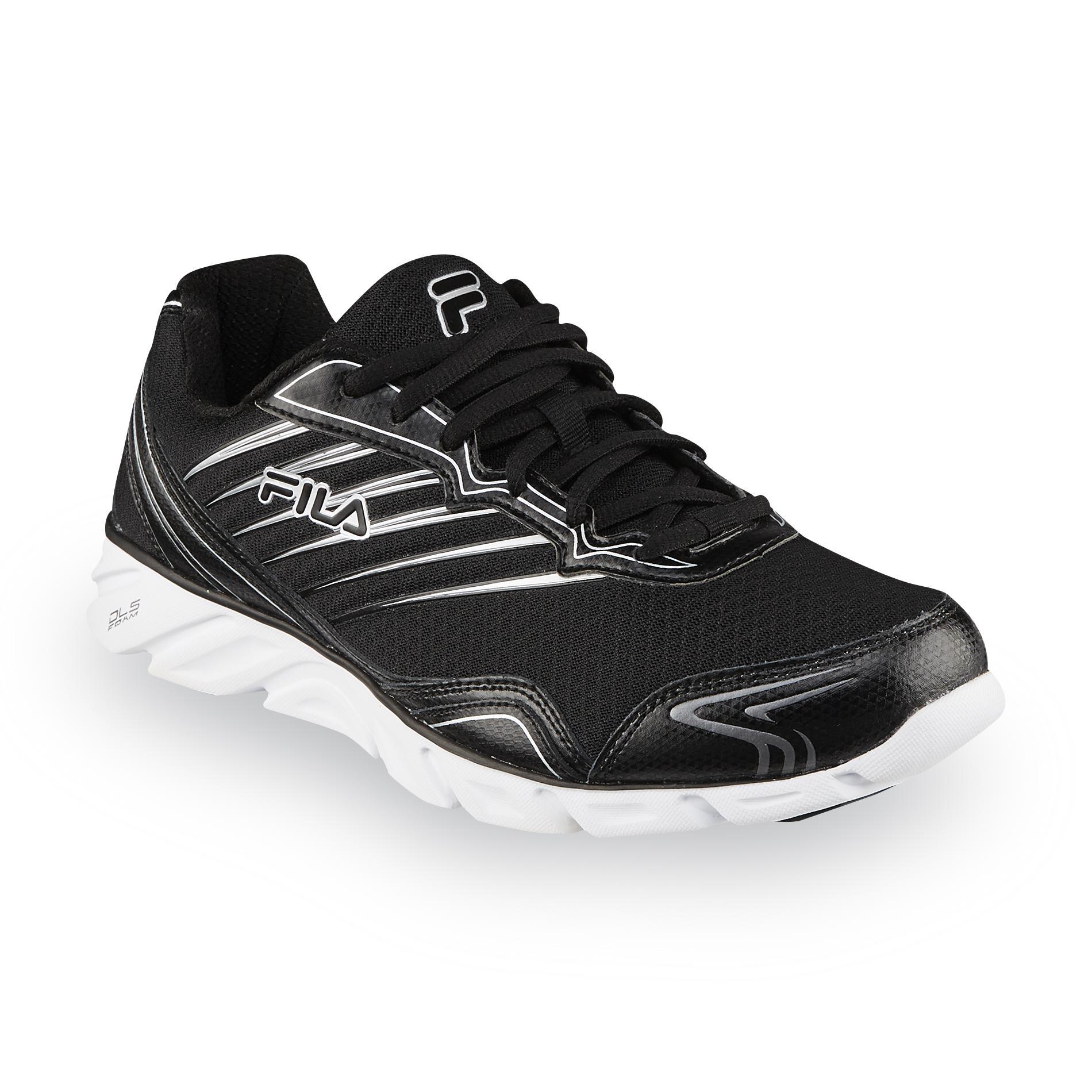 Fila Mens TMinus BlackWhite Running Shoe