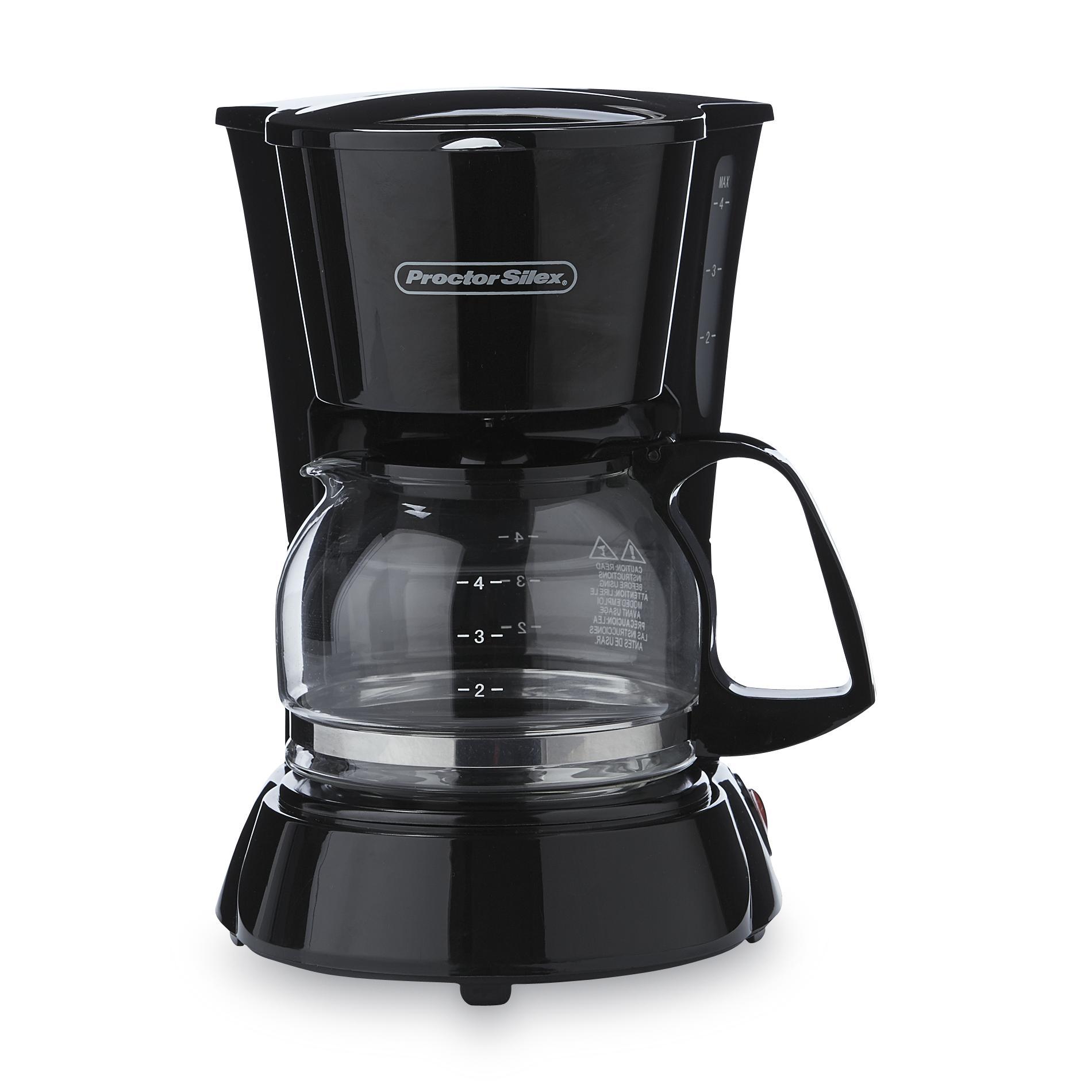 Proctor Silex 48138 4-cup Coffee Maker Black