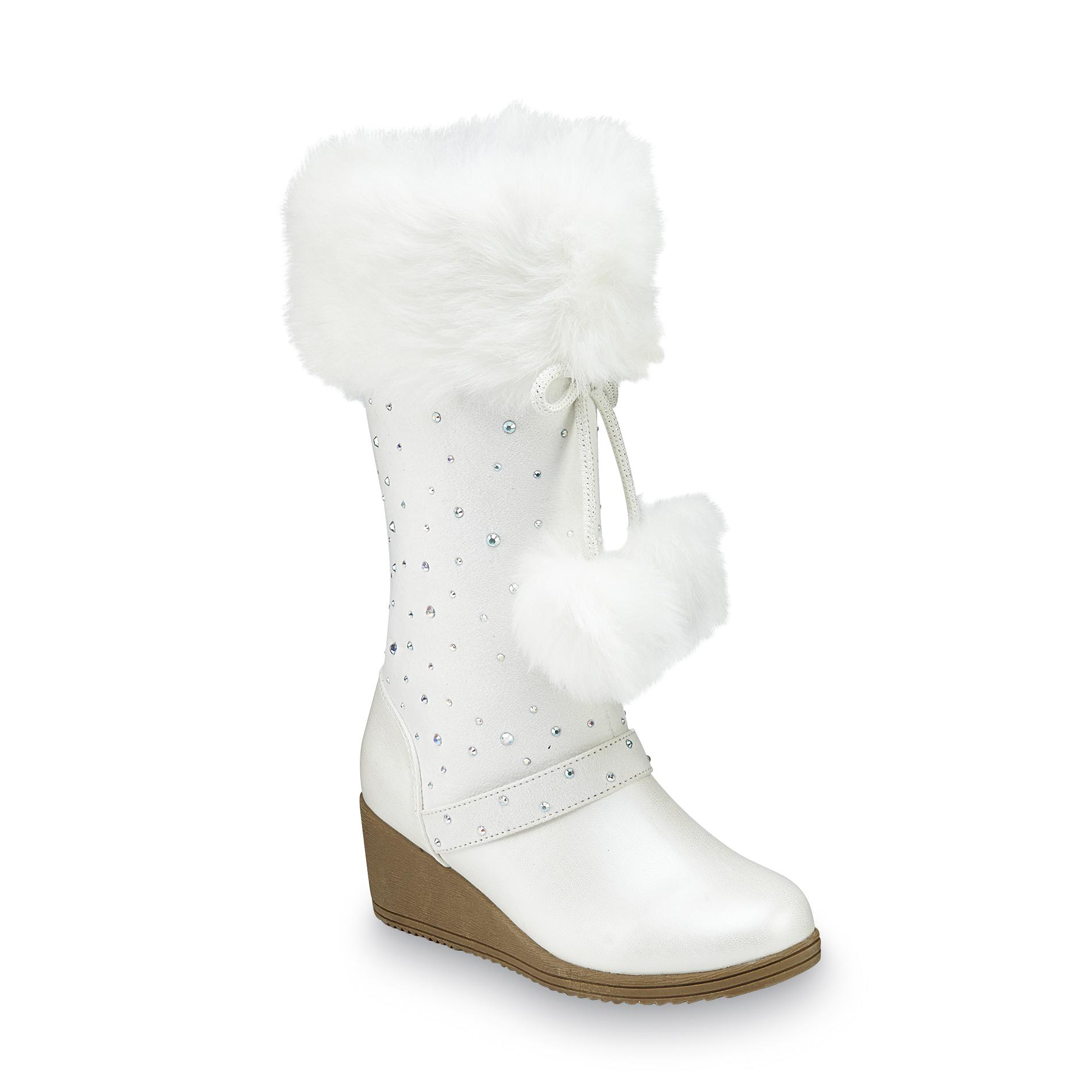 Canyon River Blues Girls Remi White Wedge Boot