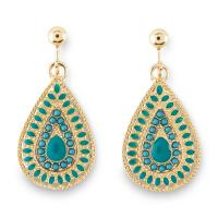 Jaclyn Smith Women's Goldtone Clip-On Teardrop Earrings ...
