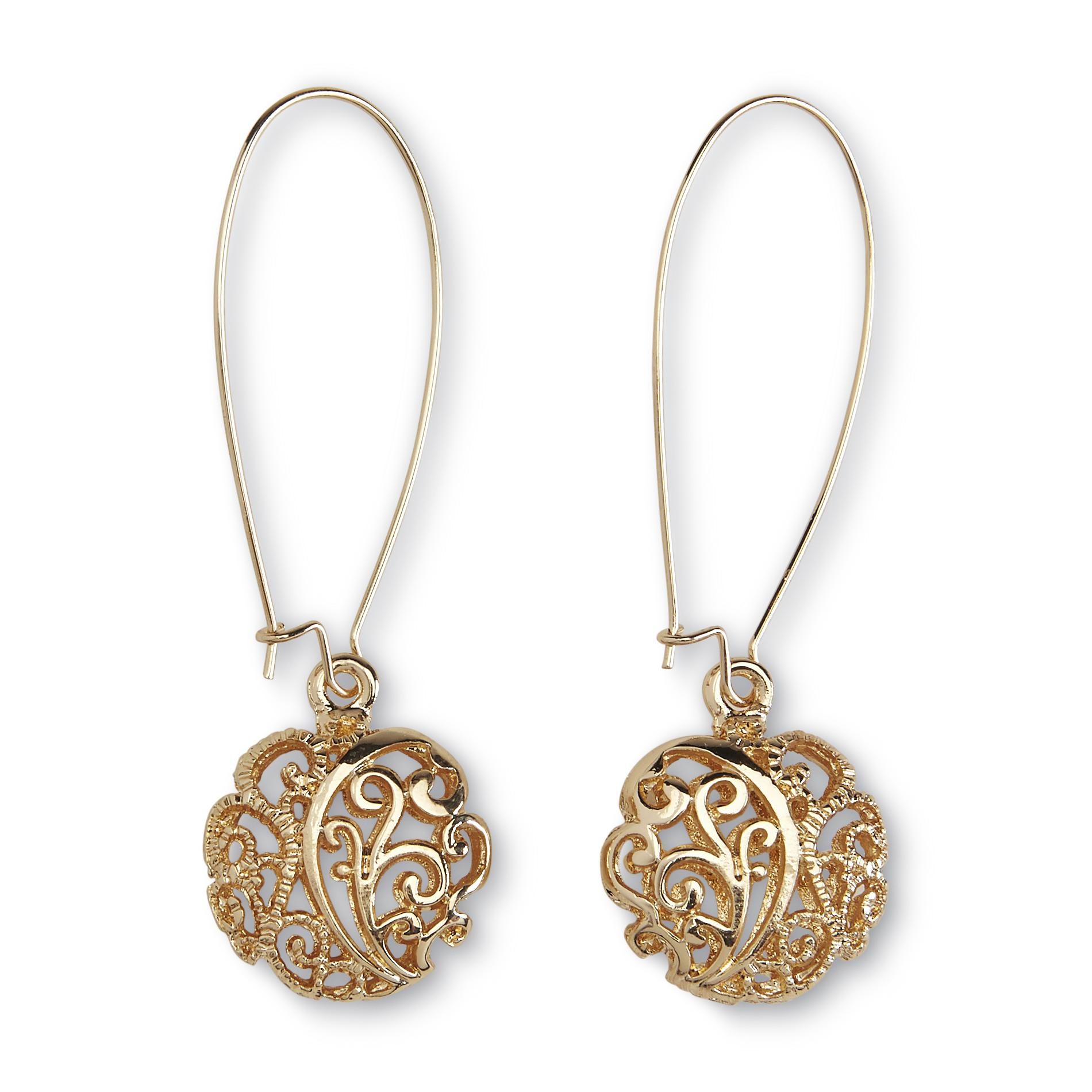 Attention Women's Goldtone Filigree Threader Earrings