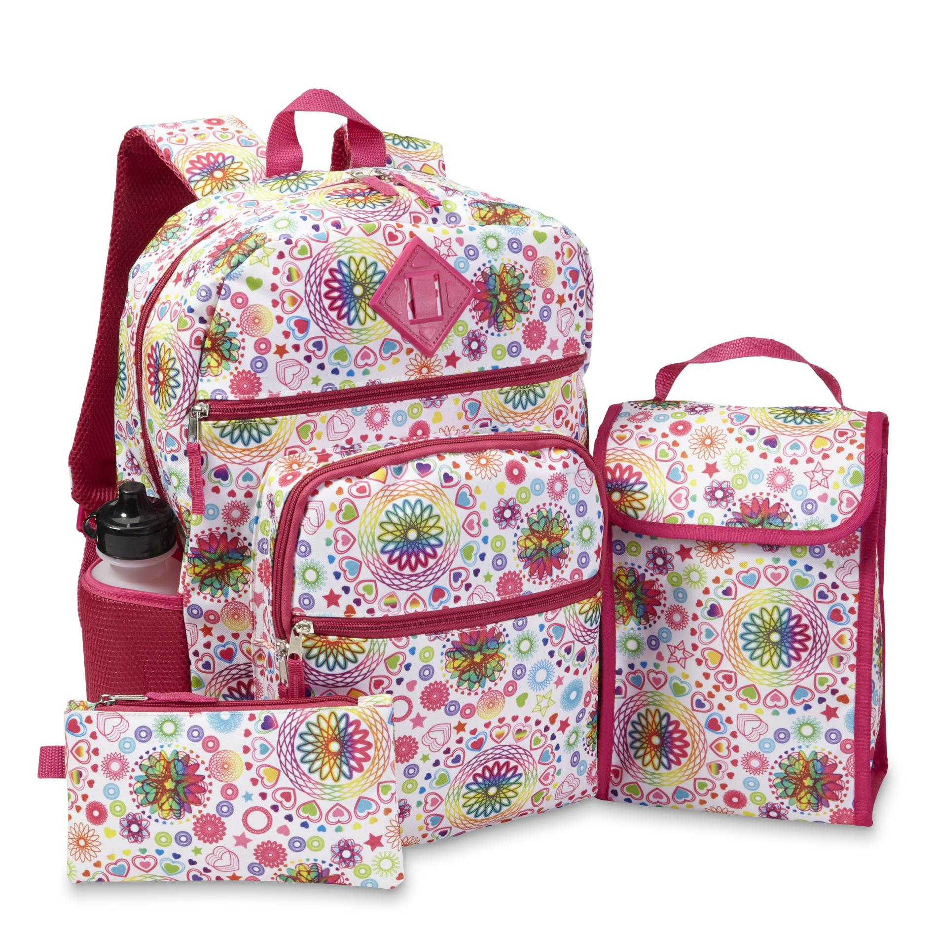 Confetti Girls Backpack Lunch Bag Pencil Case Amp Water