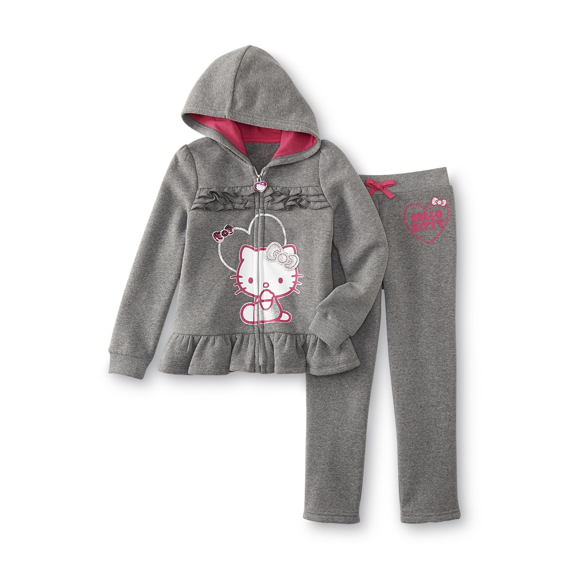 Hello Kitty Girl's Hoodie Jacket & Sweatpants