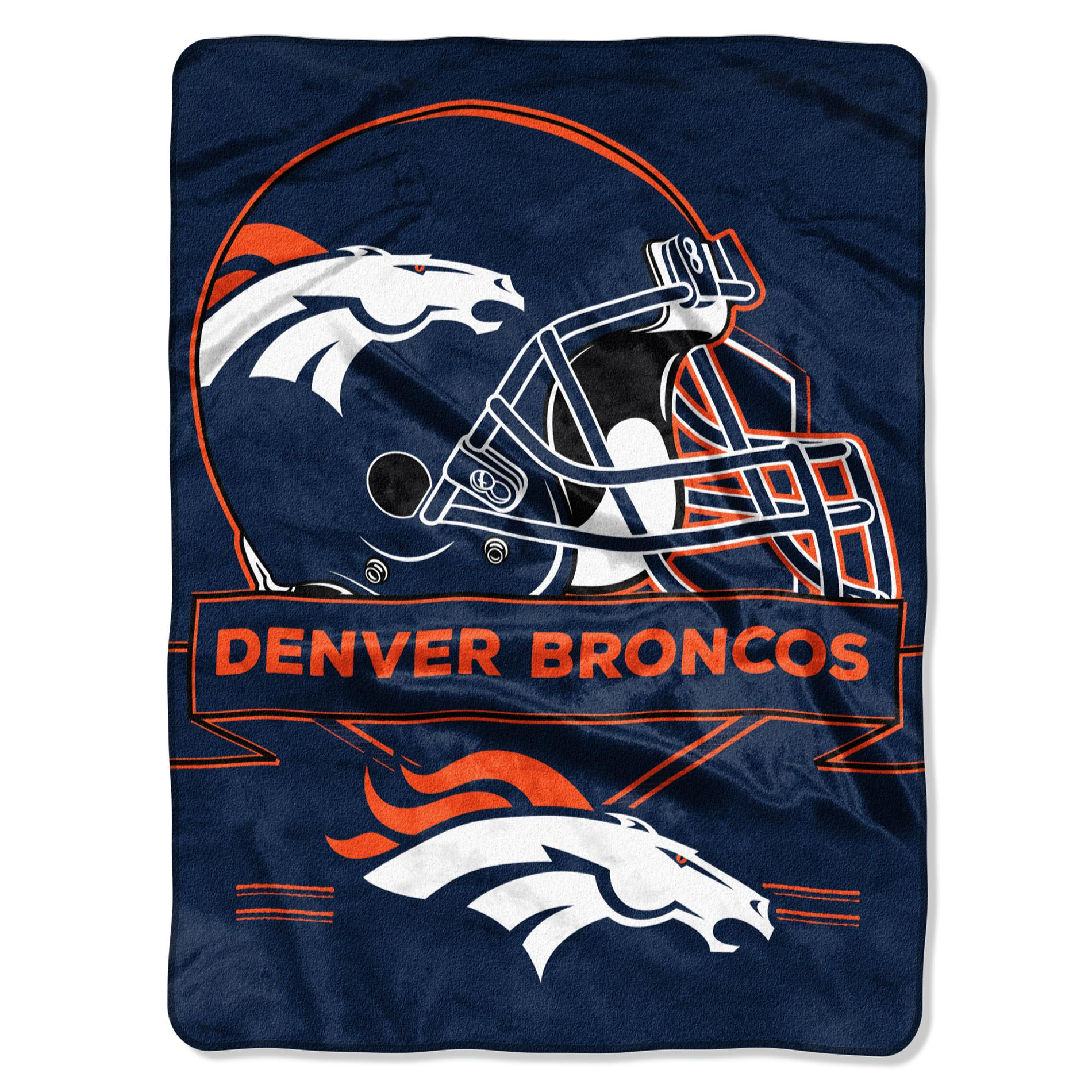Denver Broncos Chair Nfl Plush Throw Denver Broncos Shop Your Way Online
