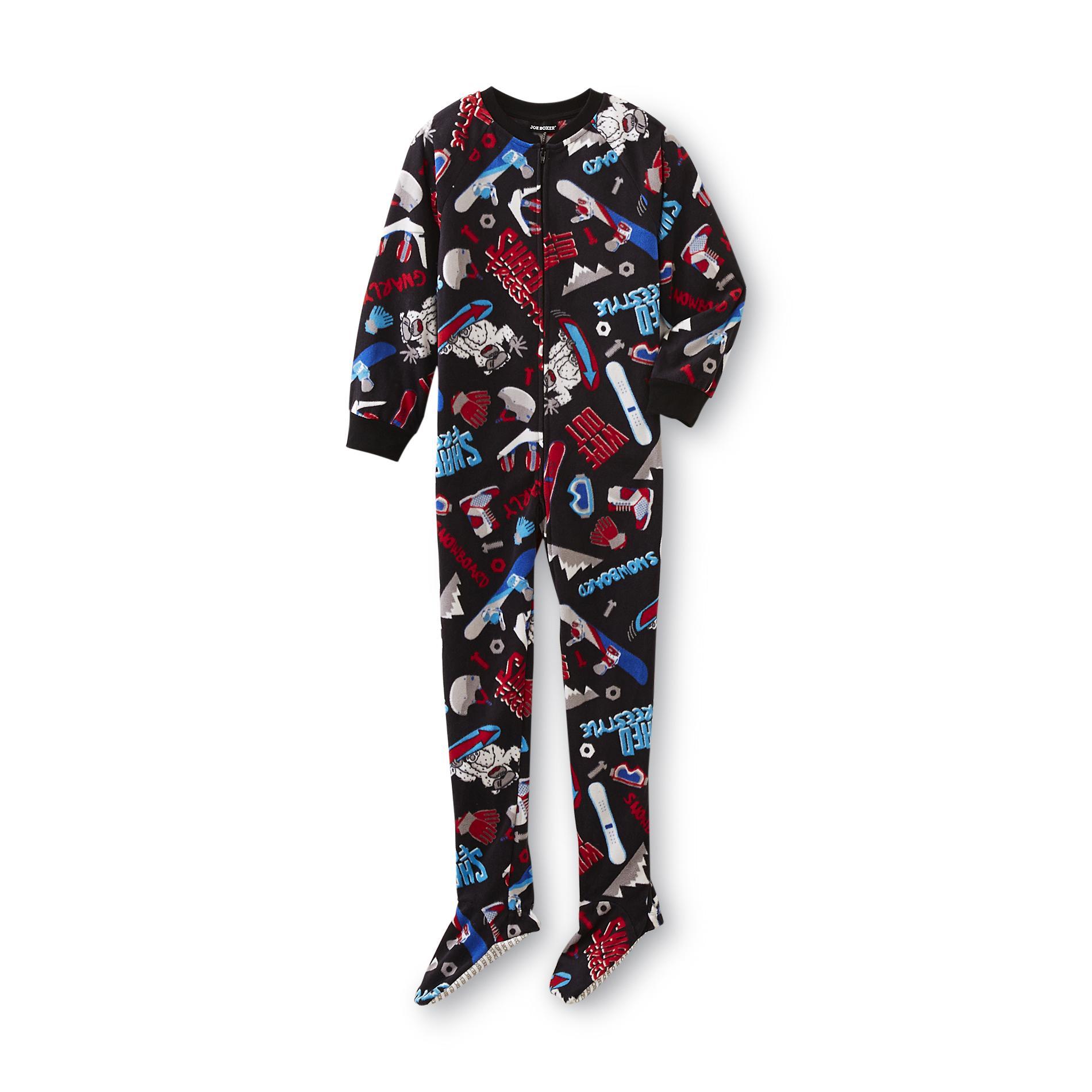 One Piece Footed Pajamas Boys