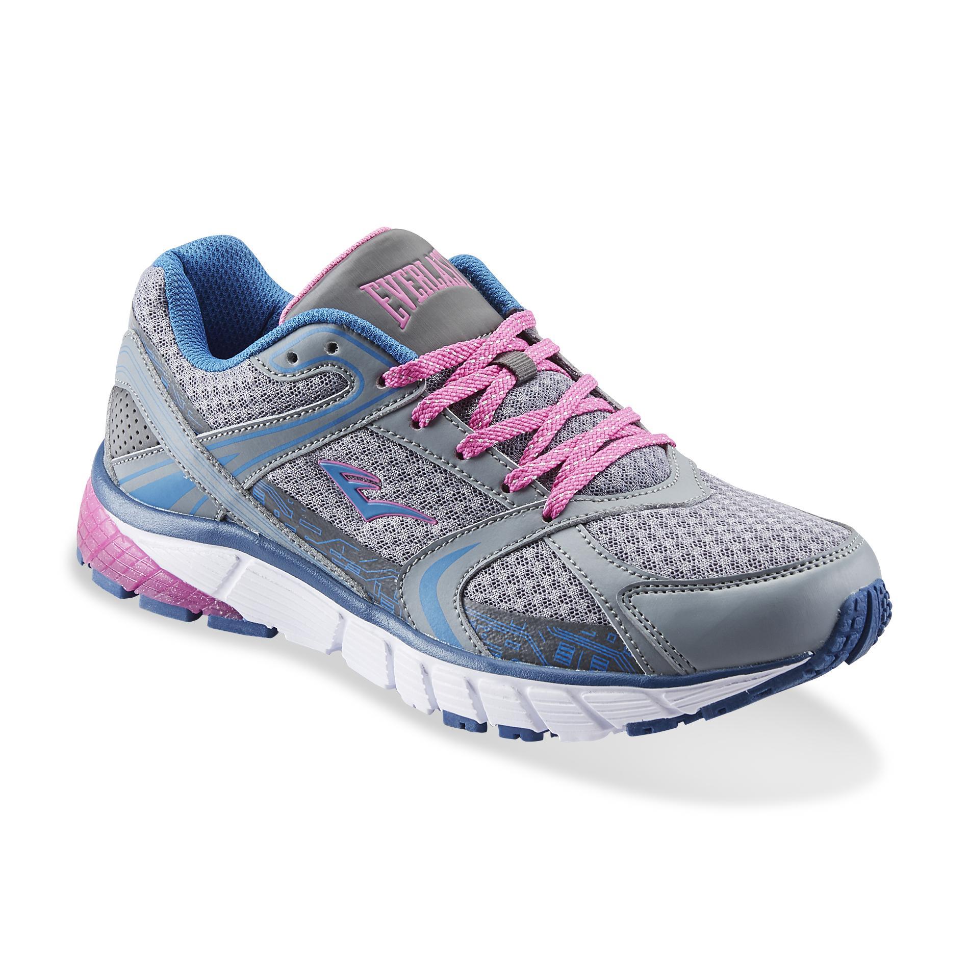 Everlast Womens Journey GrayBluePink Athletic Shoe