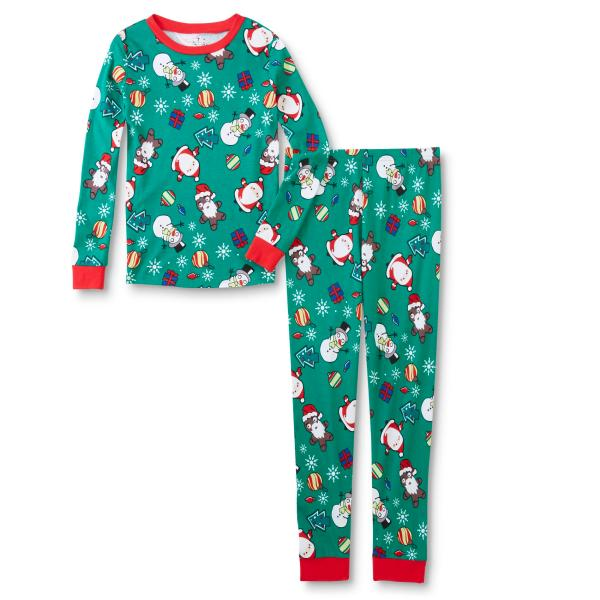 Joe Boxer Boys' Tight Fit Christmas Pajama Shirt & Pants