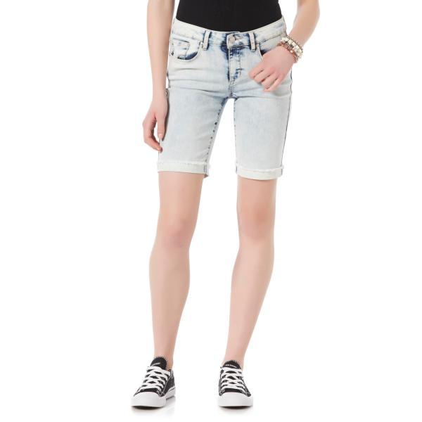 Junior Denim Bermuda Shorts for Women