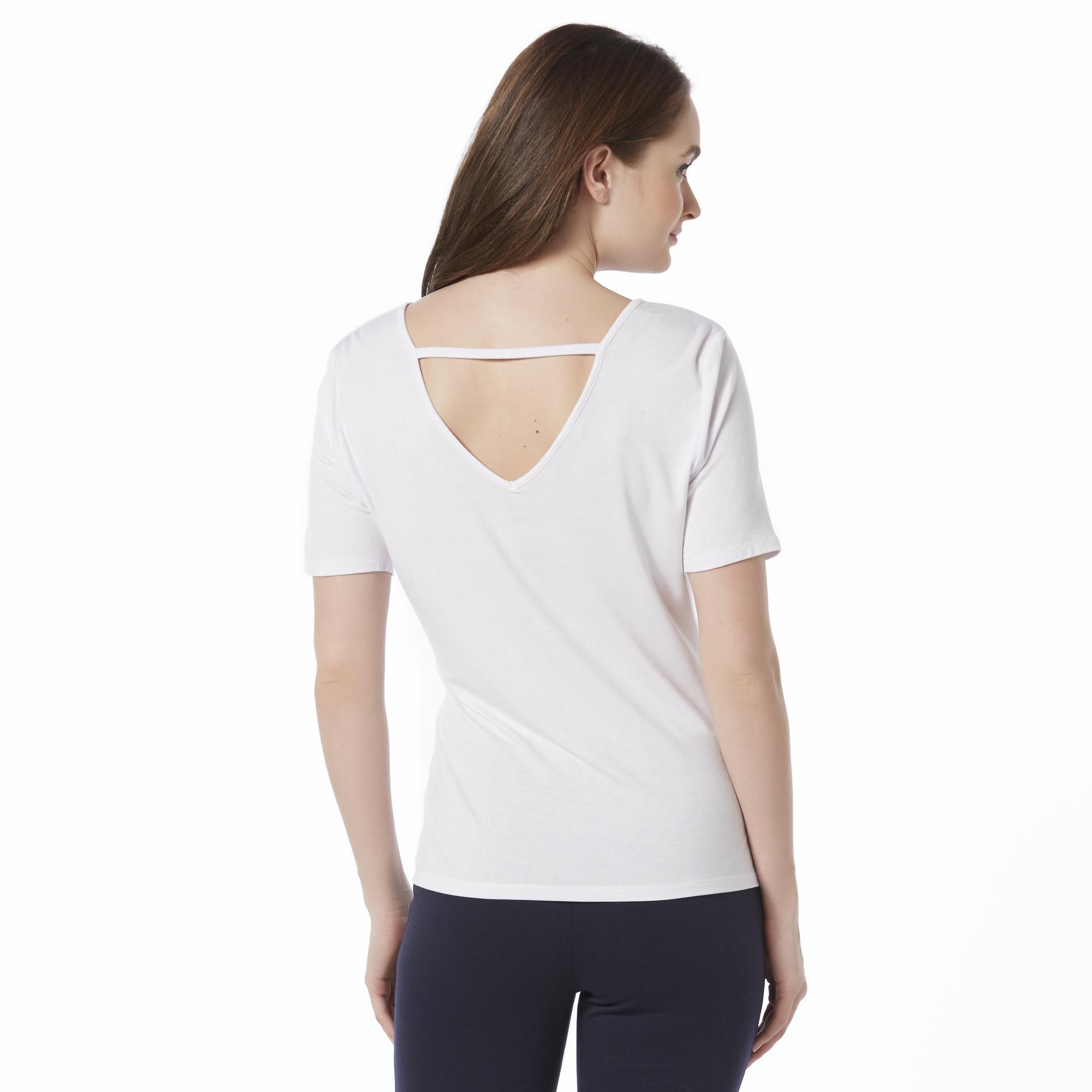 Metaphor Womens Double V Neck T Shirt