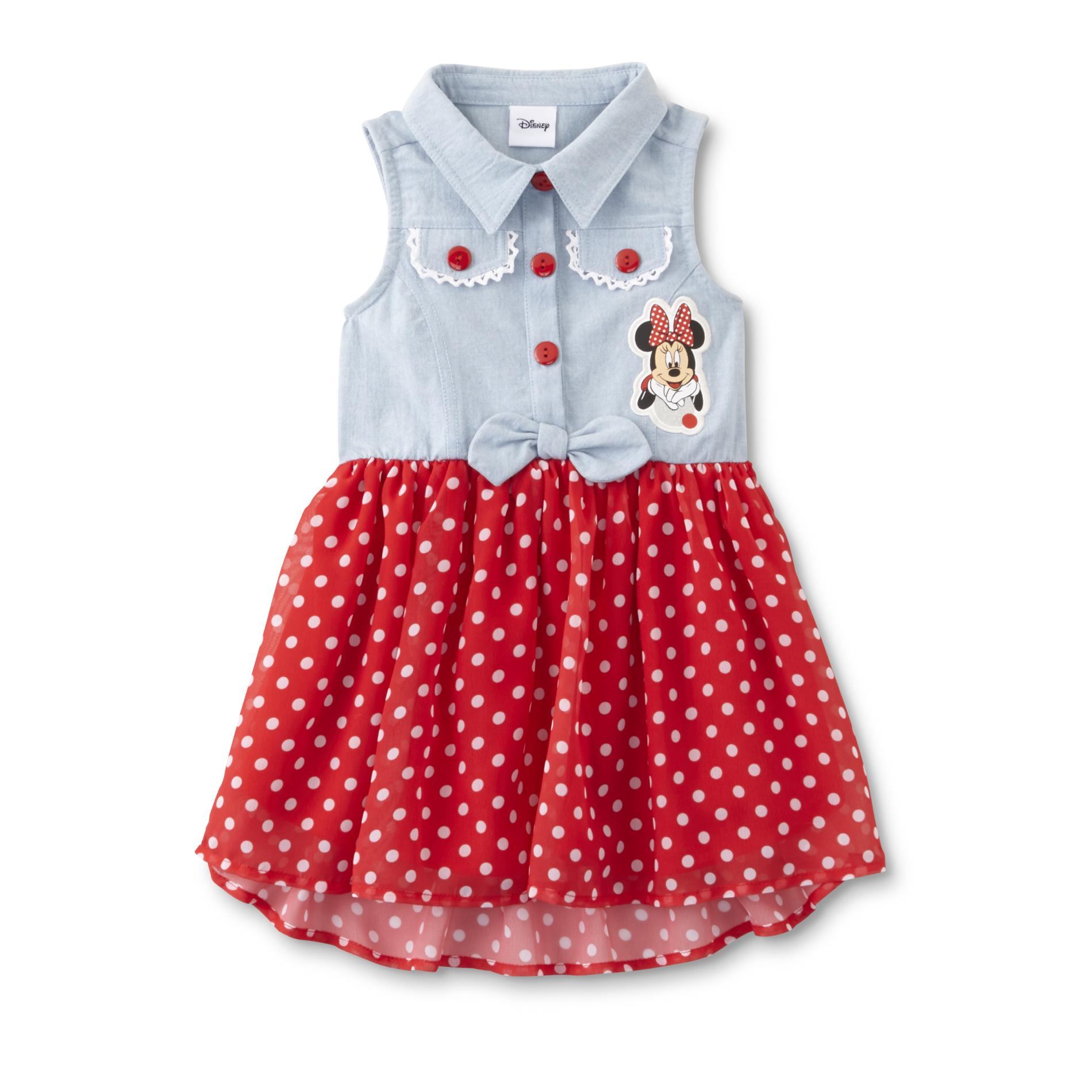 Disney Baby Minnie Mouse Toddler Girl' Sleeveless Dress - Kmart