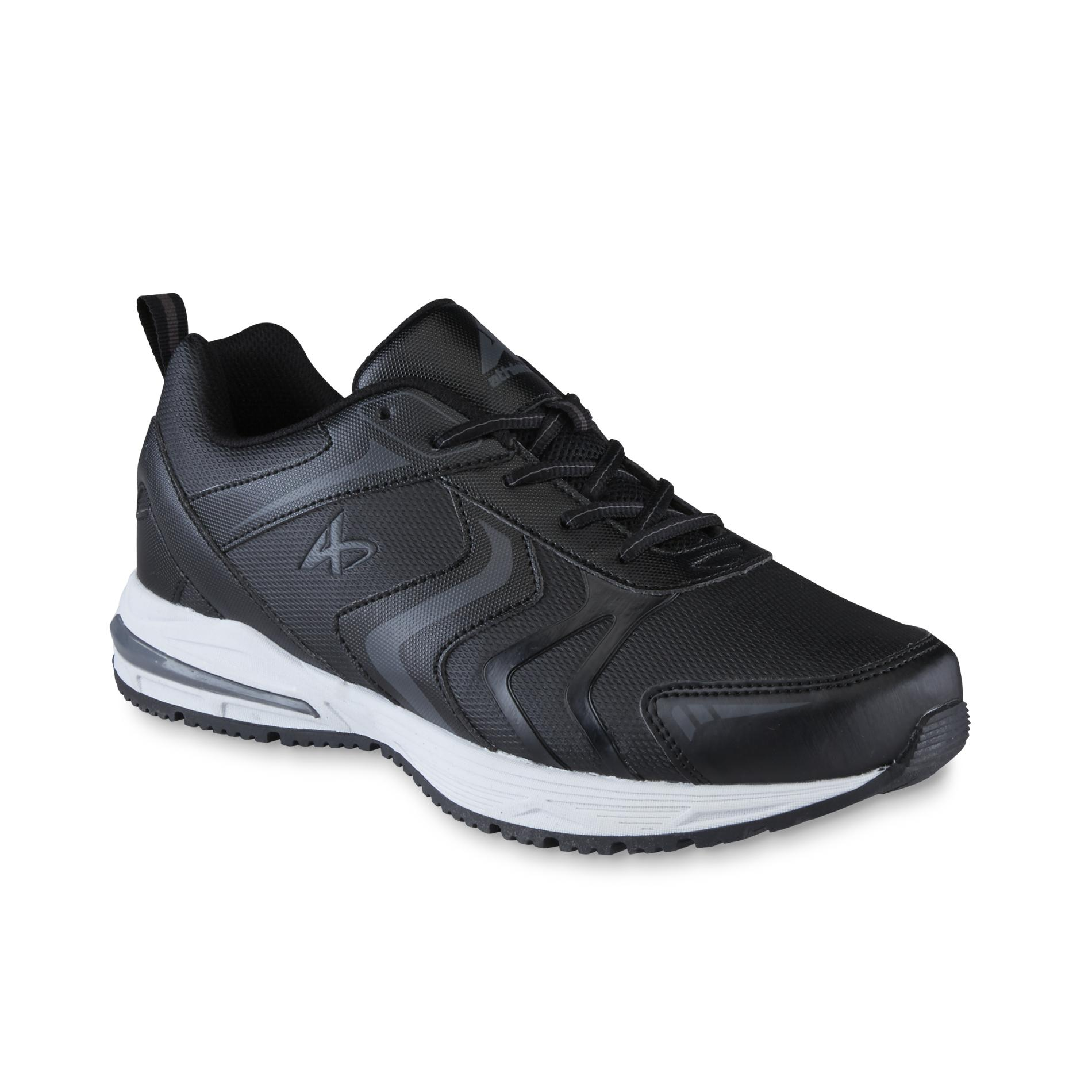 Athletech Mens Shuffle Black Athletic Shoe