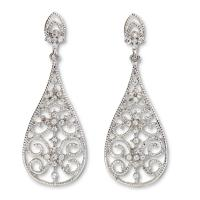 Rhinestone Dangle Earrings