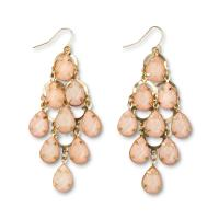 Women's Goldtone Beaded Chandelier Earrings - Kmart