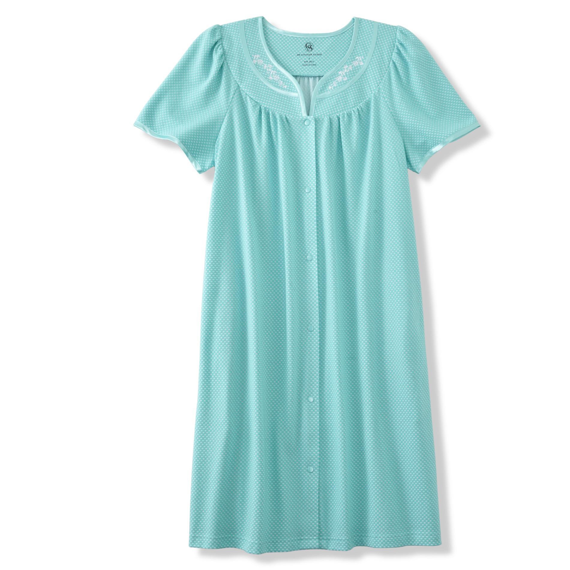 Granada Women39s Duster Robe Dots