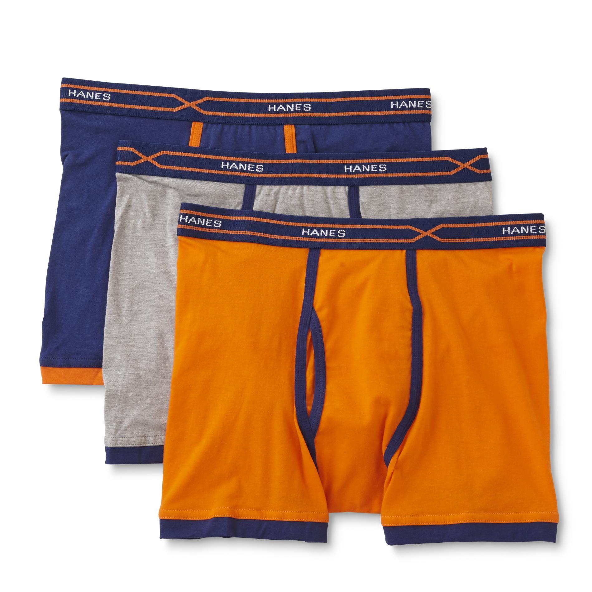 Hanes Men' 4-pairs X-temp Short Leg Boxer Briefs