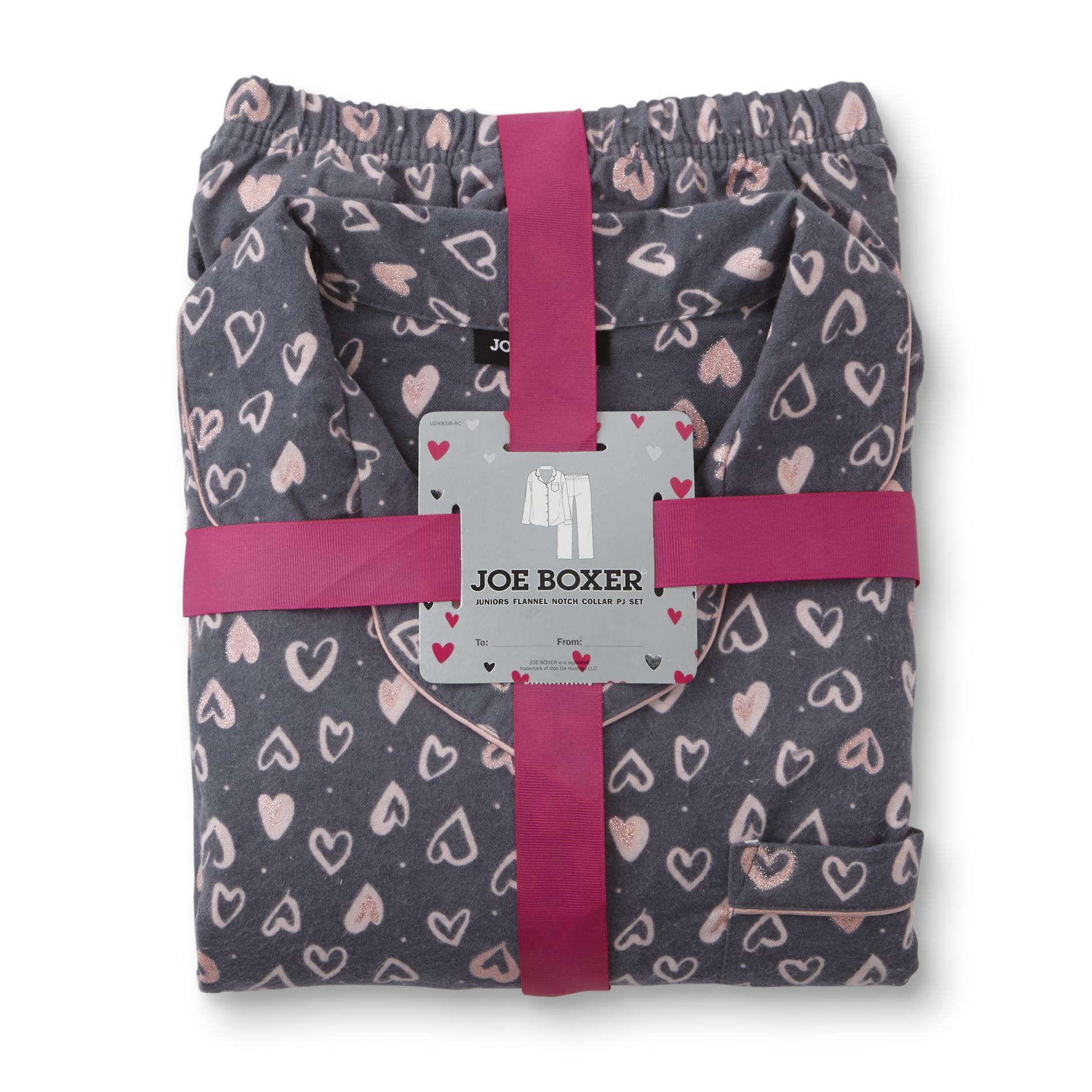 Joe boxer women   flannel pajama top pants hearts also pajamas robes kmart rh